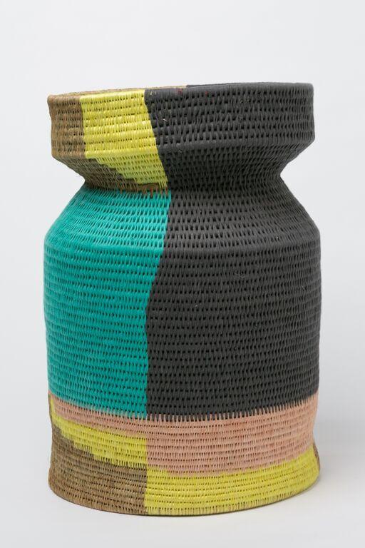 An otago vase made of sisal