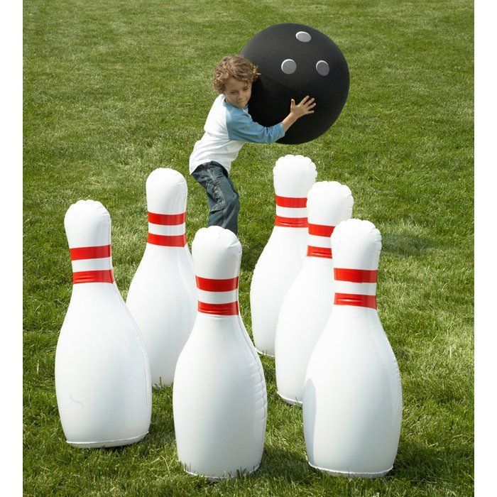 Giant Inflatable Outdoor Bowling Game Bowl Outdoors Or Indoors Any Time Big Time And Enjoy Immensely A Outdoor Yard Games Giant Yard Games Outdoor Bowling