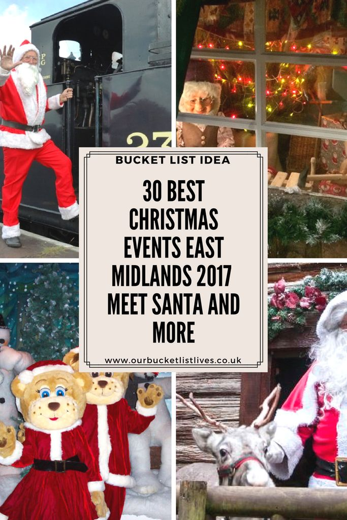 30 best Christmas events in the East Midlands, 2017, meet santa and more. Ultimate Christmas experiences #Christmas #daysout #eastmidlands
