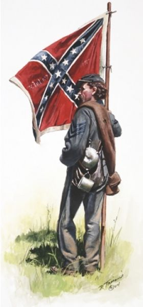 28th Virginia Color Bearer 1863... I am proud to be a direct descendant of Samuel H. Creasy, 28th Virginia Infantry Company B, from Bedford County Virginia....