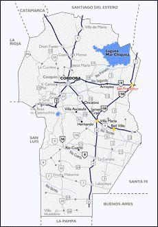 Mapa de las Rutas de Córdoba, Ruta 19