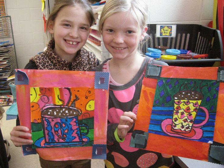 Jamestown Elementary Art Blog: 2nd Grade Faith Ringgold Mugs