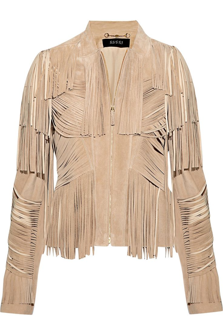 Gucci fringe suede jacket. If only we all had these kinds of budgets.... :) lol