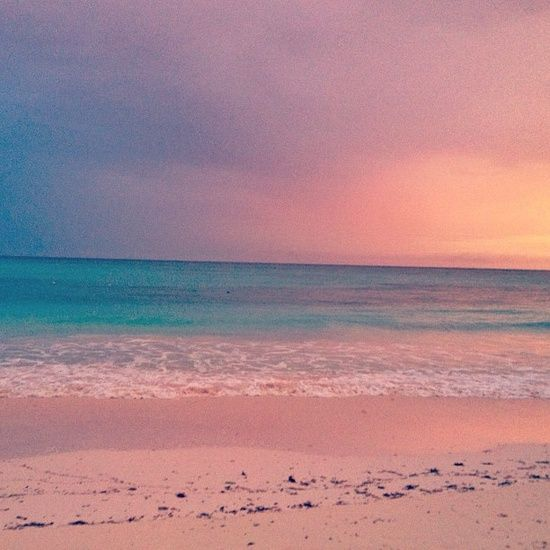 how to create a sunset on the beach with pastel