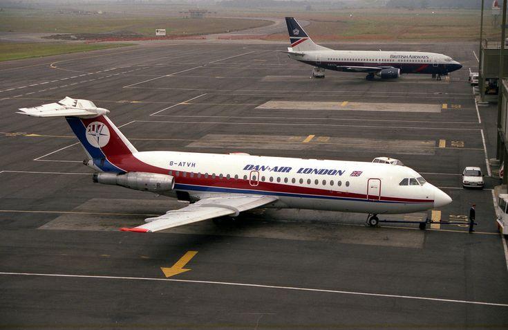 BAC 1-11 040: BAC 1-11 207AJ G-ATVH Dan-Air London Newcastle Airport | Flickr - Photo Sharing!