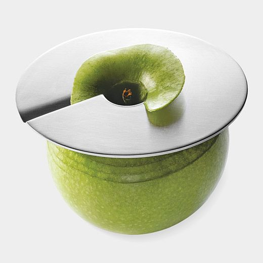 Apple slicer - makes perfect slices.  If you don't need the whole apple, just leave the disc pressed against fruit, and it will not dry out or turn brown.