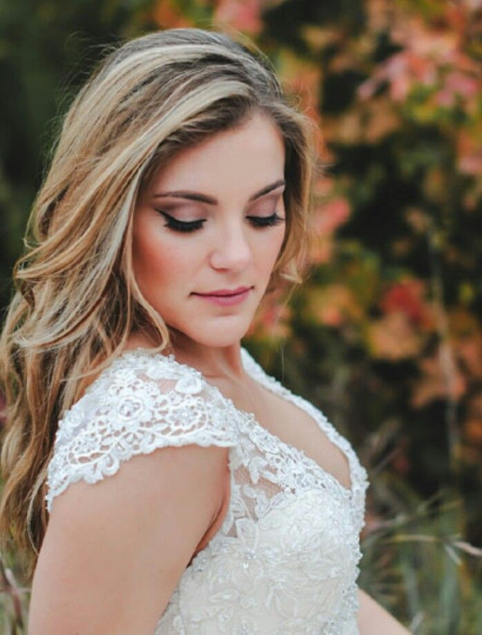 Bridal Makeup Wedding Winged Liner Earthtone Colors And Soft Romantic Look