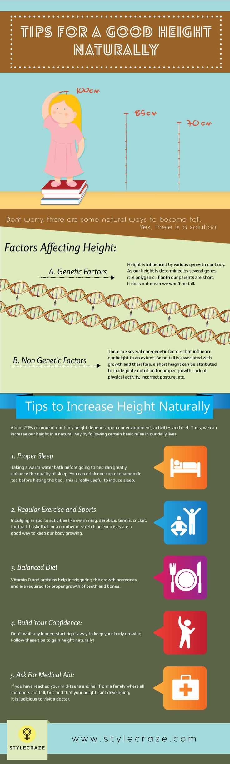 9 Simple Tips To Increase Height Naturally #Nutrition