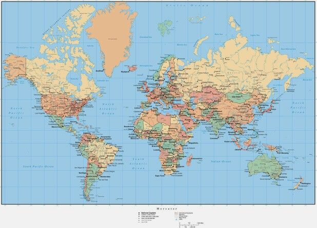 21 best World Maps images on Pinterest World maps, Chunky - fresh world map with all countries vector