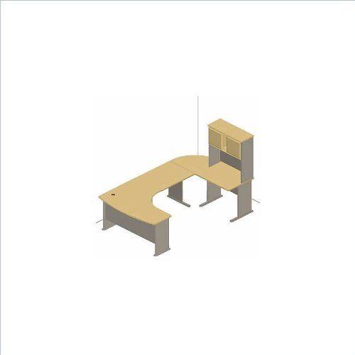 Bush Furniture Beech and gray Advantage Series U Shaped