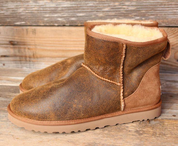 UGG Australia Mens Classic Mini Bomber Jacket Chestnut Sheepskin Boots US 12 #UGGAustralia #SnowWinter