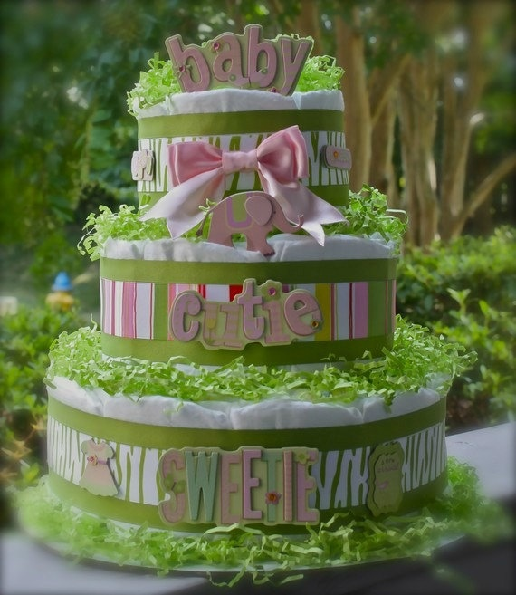 17 Best Images About Girl Diaper Cakes On Pinterest Owl