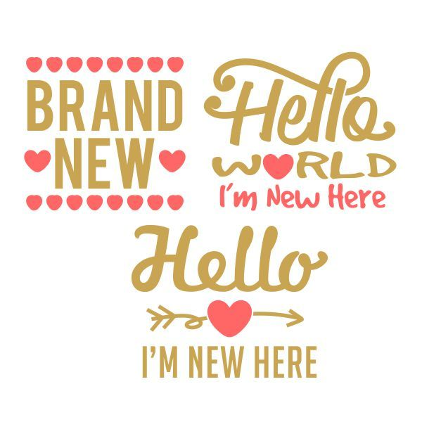 Hello Newborn Cuttable Design Cut File. Vector, Clipart, Digital Scrapbooking Download, Available in JPEG, PDF, EPS, DXF and SVG. Works with Cricut, Design Space, Cuts A Lot, Make the Cut!, Inkscape, CorelDraw, Adobe Illustrator, Silhouette Cameo, Brother ScanNCut and other software.