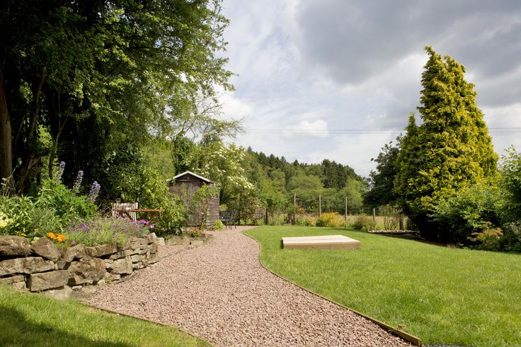 Landscaped holiday cottage garden in the Forest of Dean