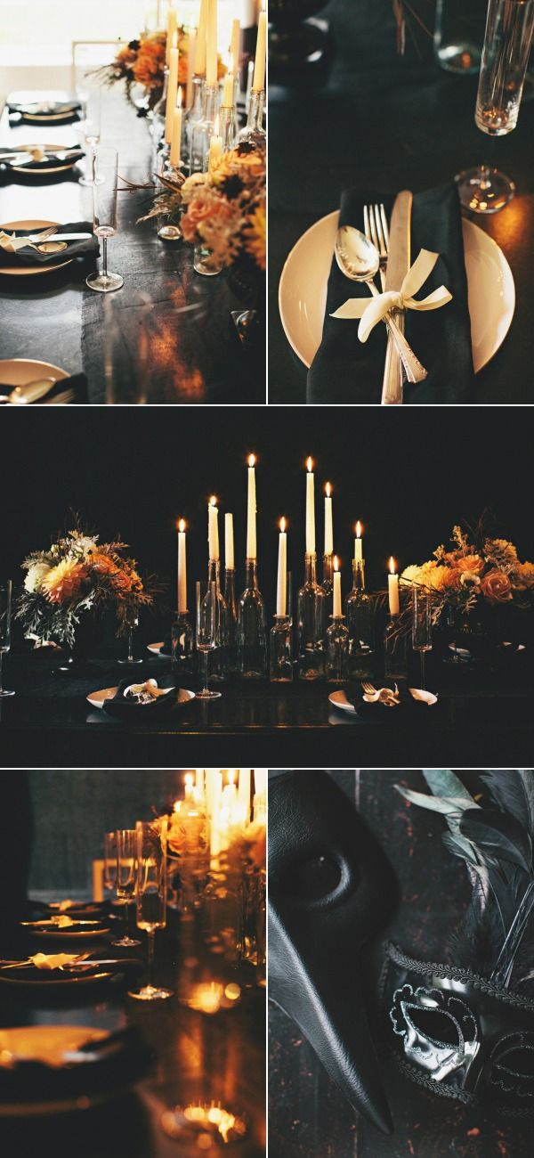 {This is how you throw a} Halloween Dinner Party.