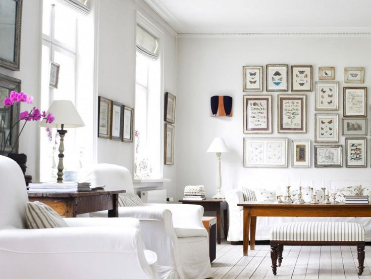 fabulous home interior with frame decoration on the wall also wooden table plus white chair