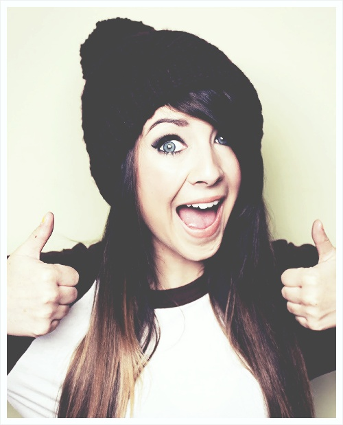 Zoella from YouTube. She has amazing hair.