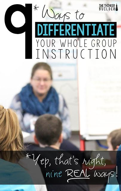 Here are 9 ways you can differentiate your whole group instruction. These differentiation ideas will really help you meet each student's needs during the lessons you already teach.