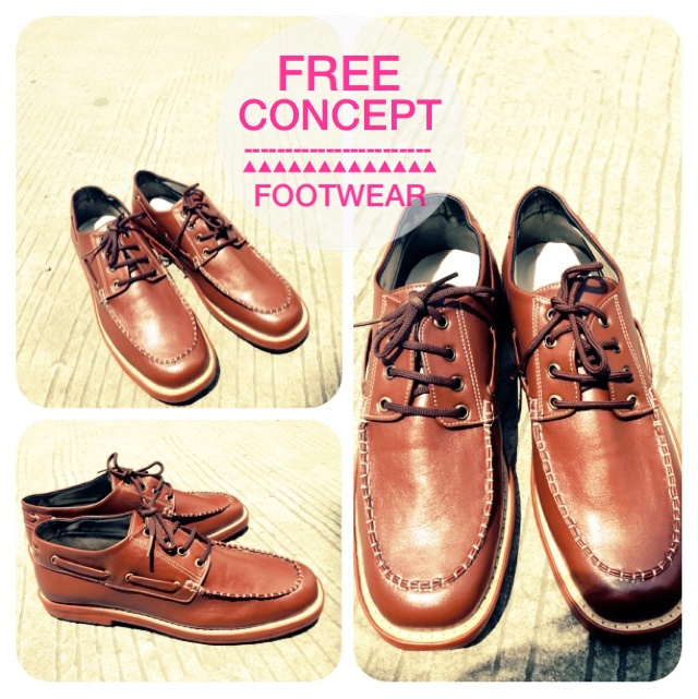"#Shoes by Free Concept ""Brownchy Dockside for Men"""