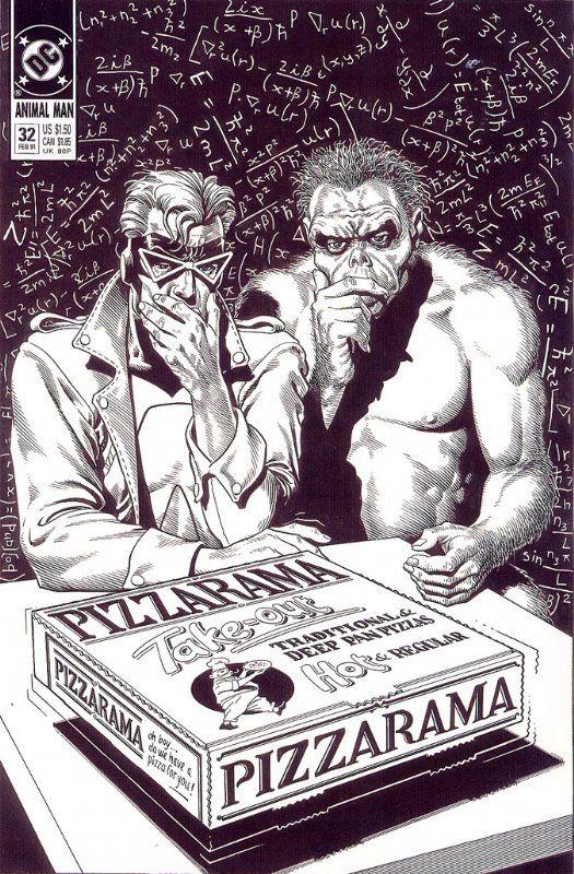 Animal Man #32 inks by Brian Bolland