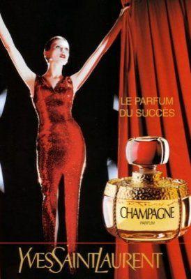 Publicité 1993 Parfum Champagne Yves Saint Laurent