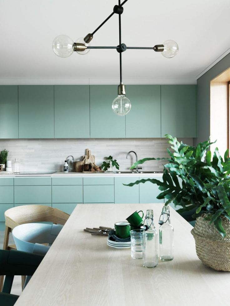 Green kitchen cabinets                                                                                                                                                                                 More