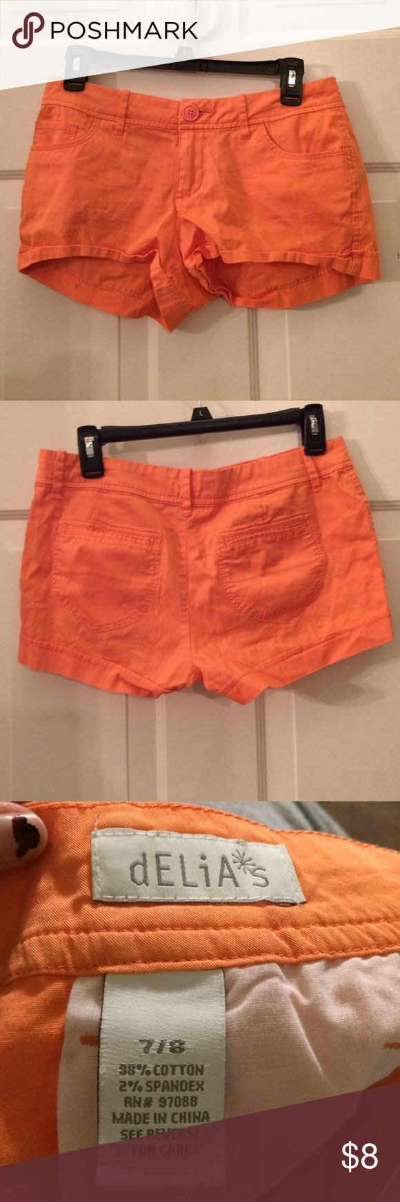 dELiA*s Peach Shorts Peach shorts from dELiA*s. Perfect for spring and summer. Worn once. dELiA*s Shorts Jean Shorts