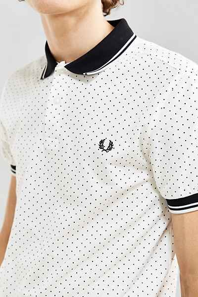 Fred Perry Polka Dot Polo Shirt - Urban Outfitters