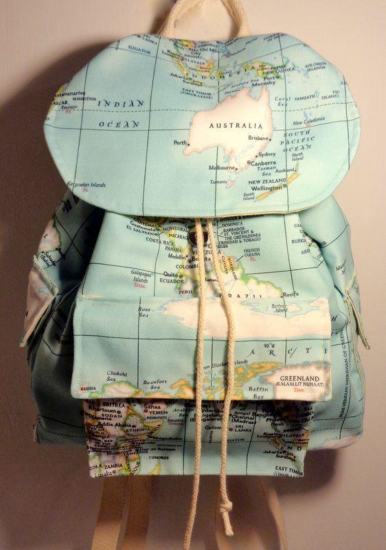 Harita Desenli Sırt Çantası Zet.com'da 125 TL