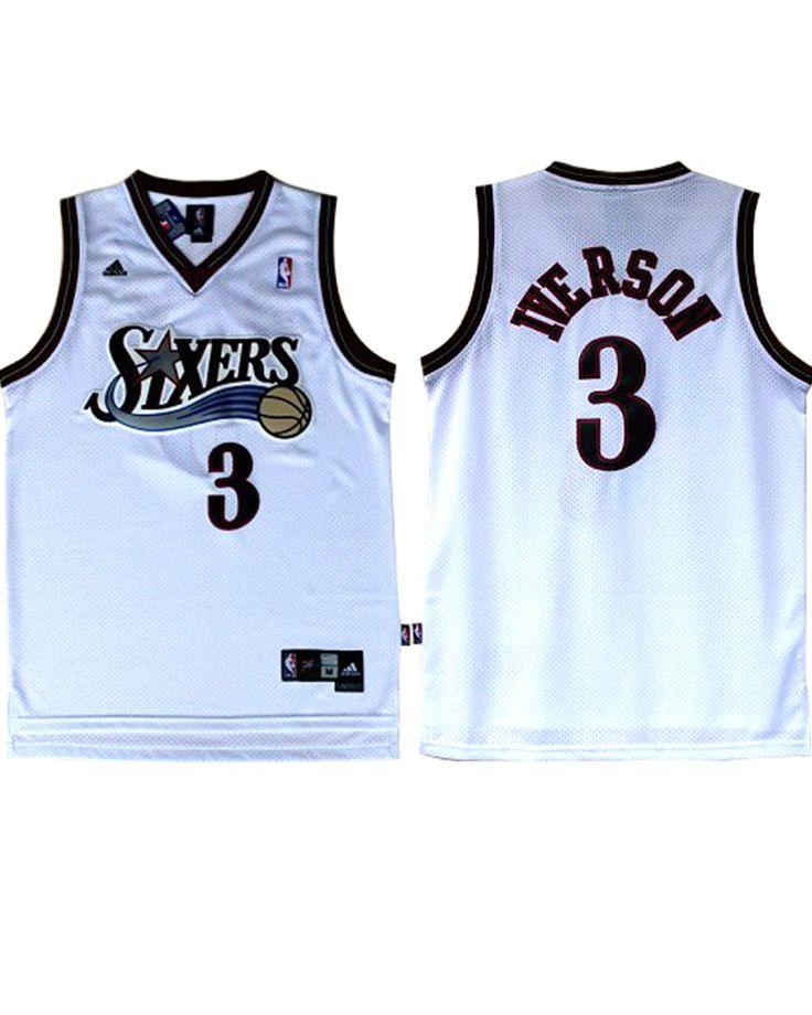 ... Allen Iverson Jersey - Philadelphia 76ers 3 White Swingman Jersey  -16.88 http ... e30274f3d