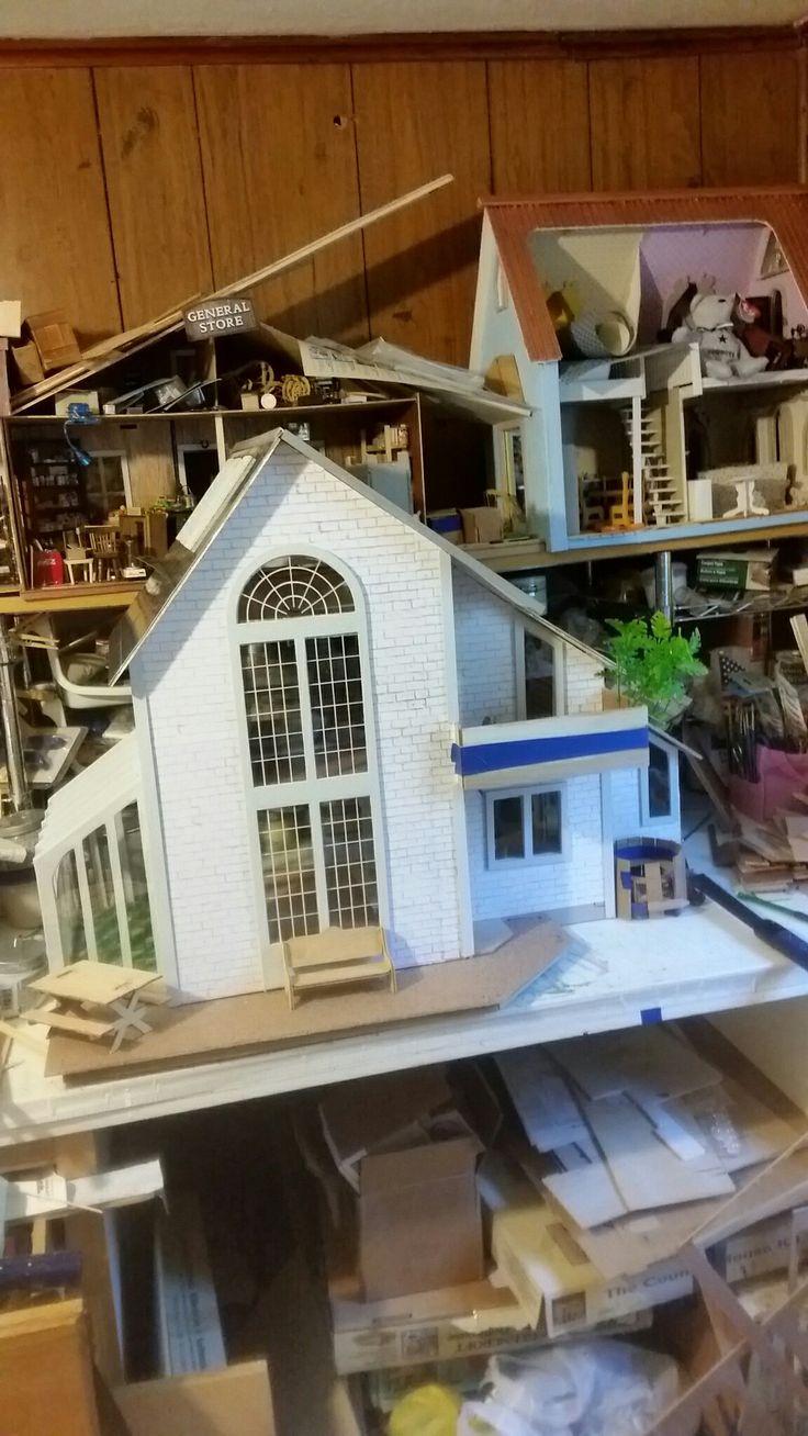 Perfect Diy Dollhouse, Dollhouse Miniatures, Miniature Dolls, Dollhouses, Little  Cottages, Cottage, Furniture, Doll Houses, Play Houses