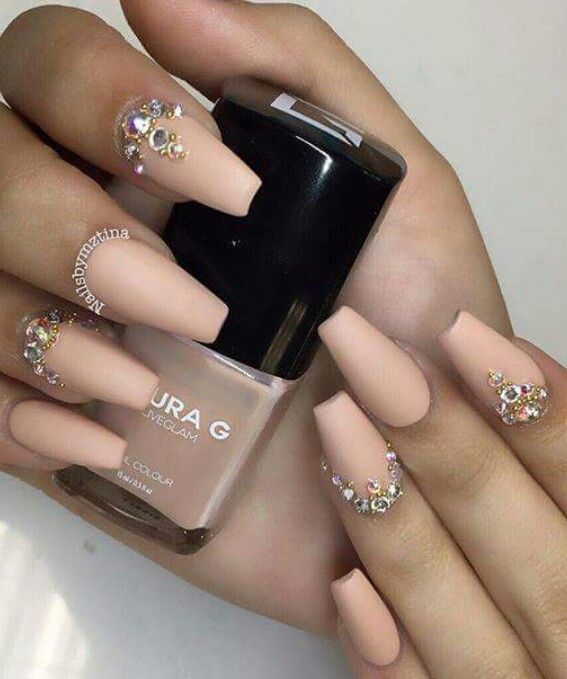 Acrylic Nails With Gems | Best Nail Designs 2018