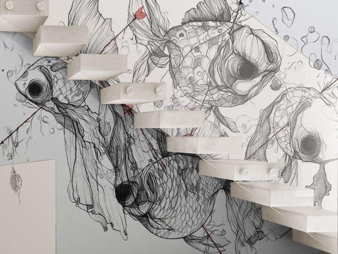 Carta da parati lavabile in vinile CG4 by GLAMORA design Celina de Guzman
