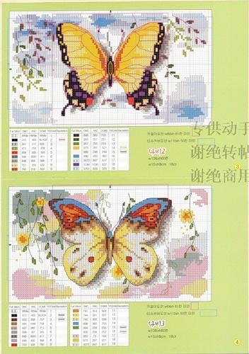 Цветы и бабочки - СХЕМЫ для вышивки— я.ру