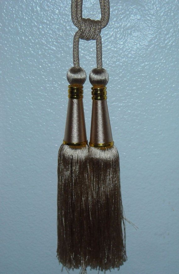 14.5 Luxury Double Head Tassel Tieback Curtain by Blessed9680