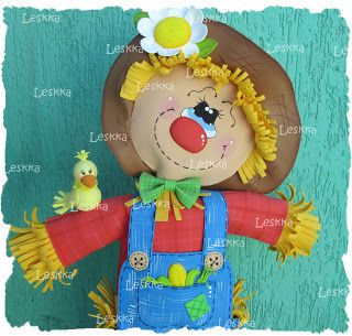 fun foam scarecrow