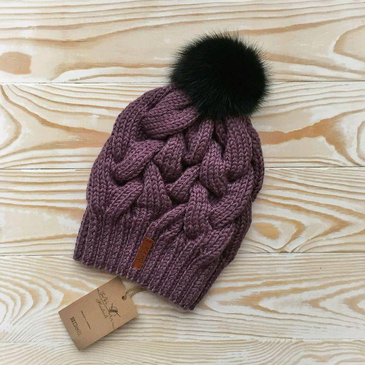Купить Шапка женская - шапка, женская шапка, вязаная шапка, шапка с помпоном, теплая шапка