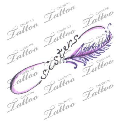 Sisters Tattoo | Sister Infinity design #105094 | CreateMyTattoo.com