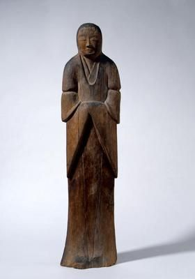 Female Shinto Deity. Japan. Kamakura period, AD 1185-1332. Polychrome wood. h 94.0 cm. Acquired 1997. Robert and Lisa Sainsbury Collection. UEA 1146