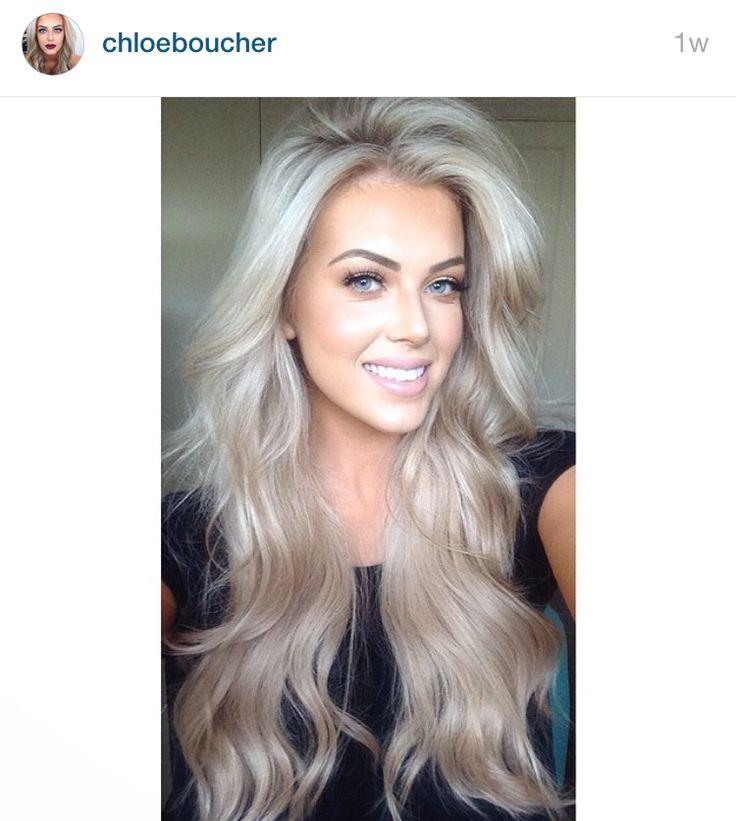 Chloe Boucher Hair Hair Long Hair Styles Ash Blonde Hair