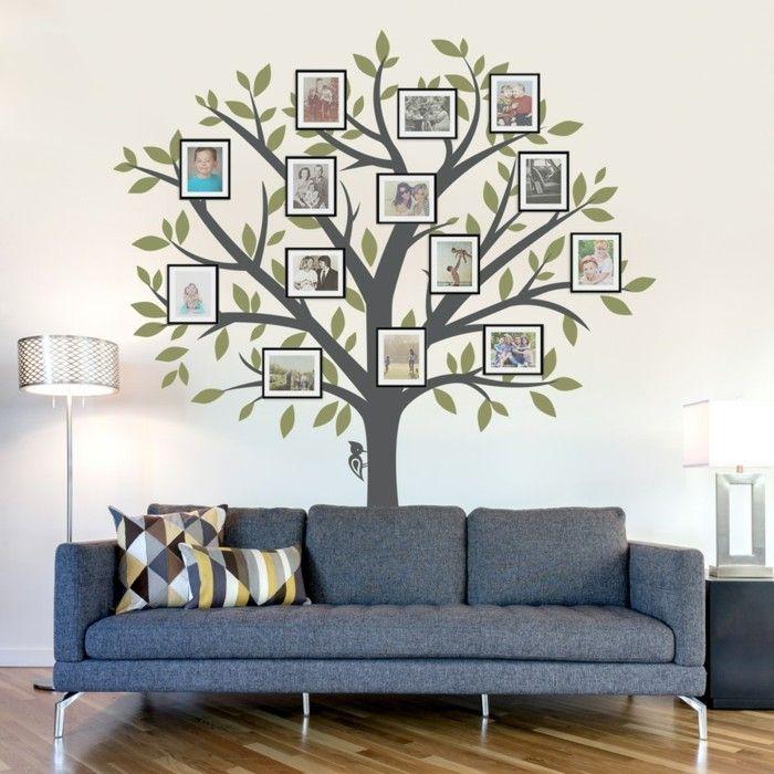 wandtattoos baum wohnzimmer wanddeko ideen fotos