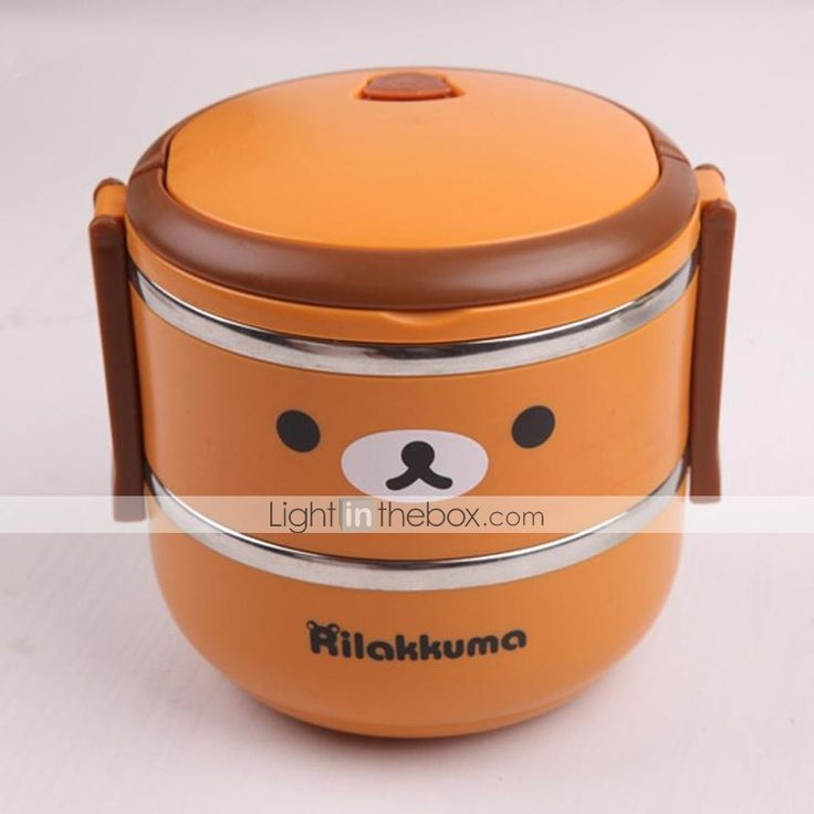 Plastic Cute Rilakkuma Double-deck Insulated Lunch Box - $ 30.99. Not clear why so expensive. I have the same at local asian store or 7 bucks...