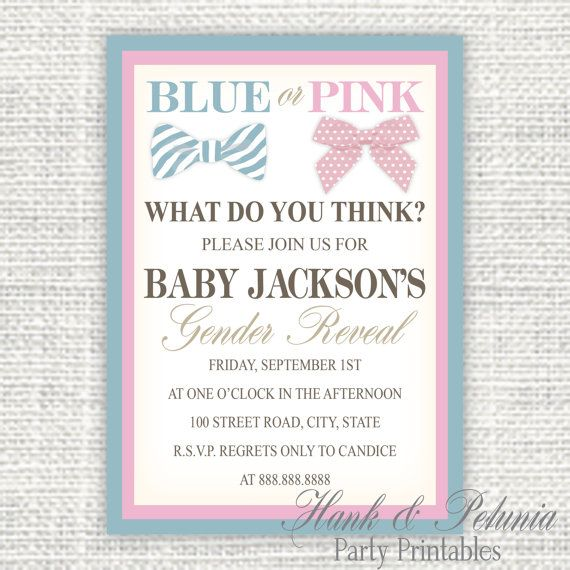 17 Best images about Baby Stuff Gender Reveal Party on Pinterest