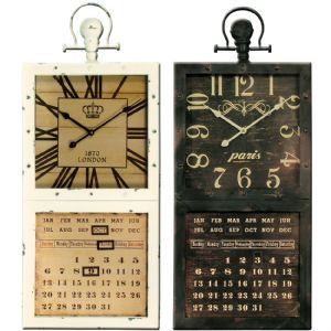 """Vintage Metal Clock with Calendar - 36x86cm ( 2' 10"""" by 1' 2"""" ) by thehomedesignstore on Etsy"""