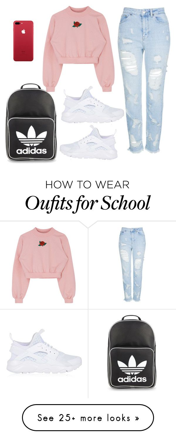 """School"" by cbgzajunk on Polyvore featuring Topshop, NIKE and adidas Originals"