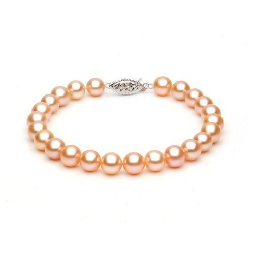 14k White Gold 6-7mm Pink Freshwater Cultured Pearl Bracelet AAA Quality, 8 Inch Unique Pearl. $69.95. Save 81% Off!