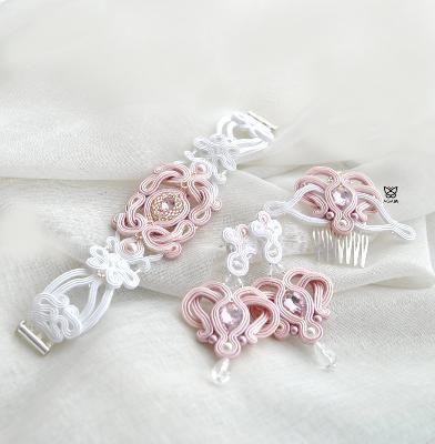 ślubna biżuteria z sutaszu by AGAM