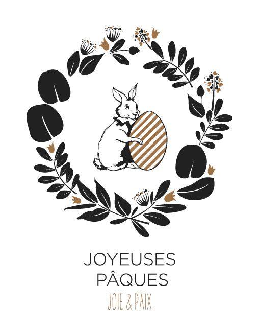 Carte ©Catho Rétro « Joyeuses Pâques » – Lapin carte graphique à retrouver sur http://www.cathoretro.com/produit/carte-catho-retro-joyeuses-paques-lapin-3/ Le E-concept store chrétien www.cathoretro.com