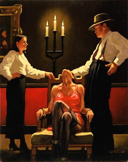 All Art by Jack Vettriano | Jack Vettriano Cocktails and broken hearts Painting