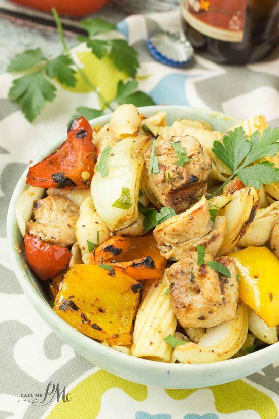 Chicken Fajita Pasta Salad recipe is simple to make, hearty & full of flavor! If you love fajitas and you love pasta, this recipe is for you!